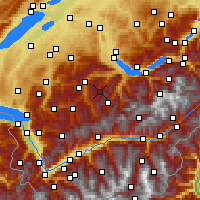 Nearby Forecast Locations - Diemtigtal - Map