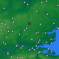 Nearby Forecast Locations - London Stansted Airport - Map
