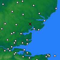 Nearby Forecast Locations - Colchester - Map