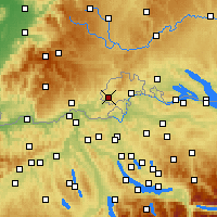 Nearby Forecast Locations - Hallau - Map