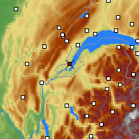 Nearby Forecast Locations - Geneva - Map