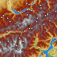 Nearby Forecast Locations - Eggishorn - Map