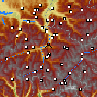 Nearby Forecast Locations - Chur - Map
