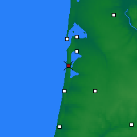 Nearby Forecast Locations - Biscarrosse - Map