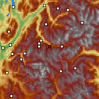 Nearby Forecast Locations - Valfréjus - Map