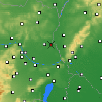 Nearby Forecast Locations - Zwerndorf-Marchegg - Map