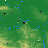 Nearby Forecast Locations - Belgrade - Map