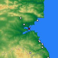 Nearby Forecast Locations - Burgas - Map