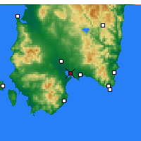 Nearby Forecast Locations - Cagliari - Map