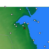 Nearby Forecast Locations - Kuwait - Map