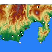 Nearby Forecast Locations - Shizuoka - Map