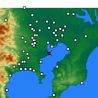 Nearby Forecast Locations - Ōta - Map