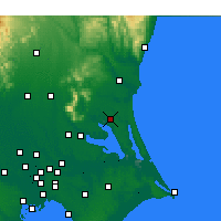 Nearby Forecast Locations - Omitama - Map