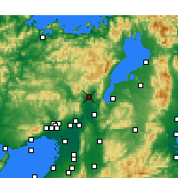 Nearby Forecast Locations - Kyoto - Map