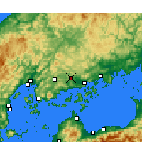 Nearby Forecast Locations - Hiroshima Airport - Map