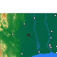 Nearby Forecast Locations - Nakhon Pathom - Map