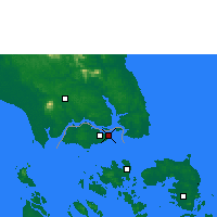 Nearby Forecast Locations - Singapore - Map