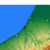 Nearby Forecast Locations - Rabat - Map