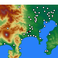 Nearby Forecast Locations - Atsugi - Map