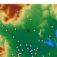 Nearby Forecast Locations - Oyama - Map