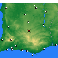 Nearby Forecast Locations - Almodôvar - Map